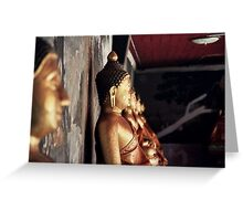 Buddha Wall Greeting Card