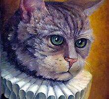 Cat in a collar by Nonna Mynatt