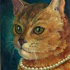 A Cat with a Pearl Necklace by Nonna Mynatt