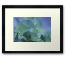 Wandering Through Blue  - JUSTART © Framed Print
