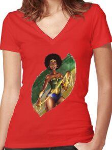 Brazil Wonder Women's Fitted V-Neck T-Shirt