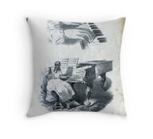 First Piano Lesson Throw Pillow