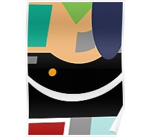 Gentle Touch Colourful Geometric Abstract - Jenny Meehan  Poster