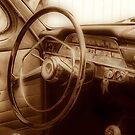 Inside old Volvo by Annika Strömgren