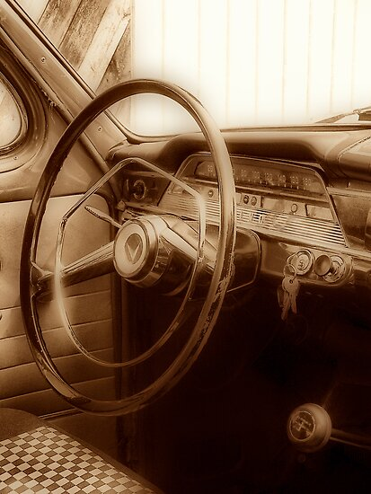 Inside old Volvo by Annika Strömgren