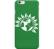 Green Party (White) iPhone Case/Skin