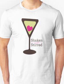 Shaken and stirred love martini glass Valentines Day T-Shirt