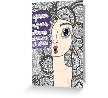 "5 sos zentangle ''she looks so perfect"" Greeting Card"