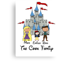 Fairy Tale Choose your character Castle Family Vacation PERSONALIZED ~DO NOT PURCHASE THIS SAMPLE. SEE DESCRIPTION Canvas Print