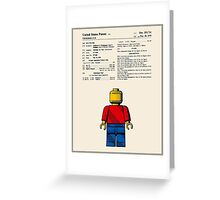 Lego Man Patent - Colour (v1) Greeting Card