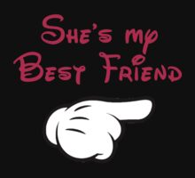 She's my best friend hand pointing left by sweetsisters