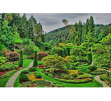 Victoria Canada Butchart Garden Photographic Print
