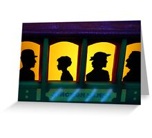 Passengers on the Glow Train Greeting Card