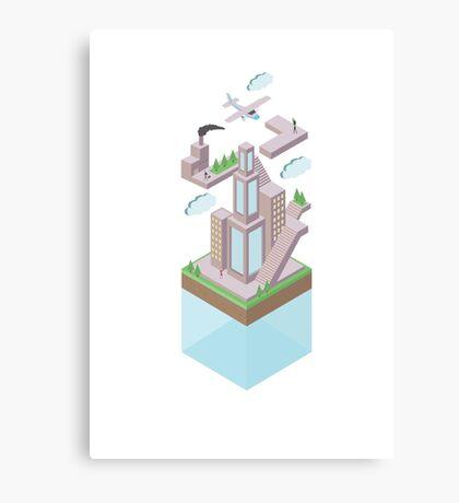 Floating World - CITY Canvas Print