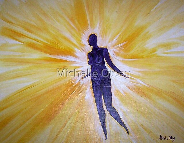 Peace in the Light (Panal 3 of 3 for Lisa) by Michelle Ottey