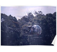 Bell 47 Helicopter @  Nowra, Australia 1997 Poster