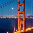 Lunar Eclipse &amp; the Golden Gate Bridge by Heidi Hermes