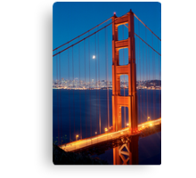 Lunar Eclipse & the Golden Gate Bridge Canvas Print