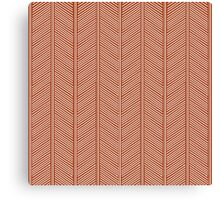 White and Orange Feather Pattern Canvas Print