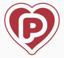 Heart P letter Baby Tee