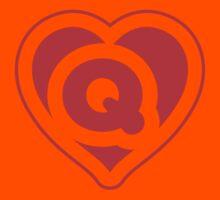 Heart Q letter Kids Clothes