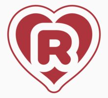 Heart R letter by Stock Image Folio