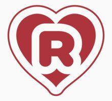 Heart R letter Kids Tee