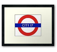 London Underground - City 17 (Half-Life 2) Framed Print