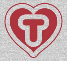 Heart T letter Kids Clothes