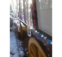 Icicles on the waggon Photographic Print