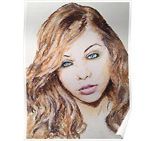 Michelle Trachtenberg, Pastels Portrait, by James Patrick Poster