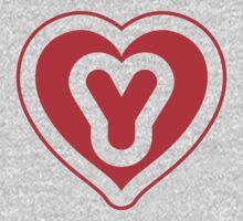 Heart Y letter Kids Clothes