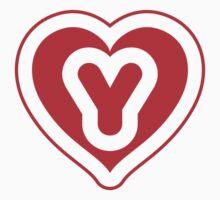 Heart Y letter Kids Tee