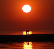Ludington Sunset by BarbsUSA