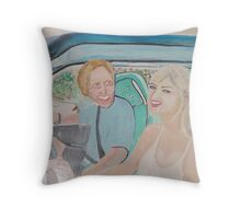 Lovers - Greg Norman Weds Chris Evert  Throw Pillow