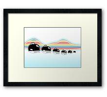Rainbow Orcas Framed Print