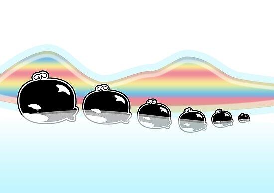 Rainbow Orcas by migaloomagic