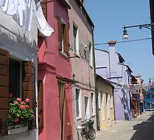 burano colored houses by bexlynne