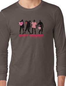 Funny zombies love gifts Valentines Day Long Sleeve T-Shirt