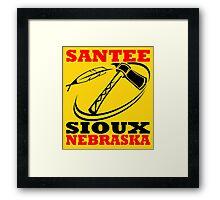 SANTEE SIOUX Framed Print