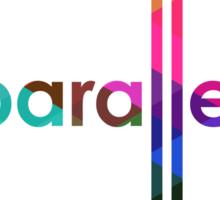 Parallel Lines Never Meet Sticker