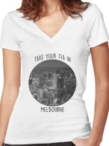 Melbourne! Women's Fitted V-Neck T-Shirt