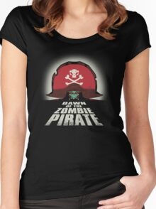 Dawn of the Zombie Pirate Women's Fitted Scoop T-Shirt
