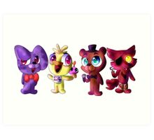 Five (Adorable) Nights at Freddy's Art Print