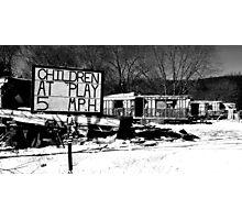 Children no longer at play Photographic Print