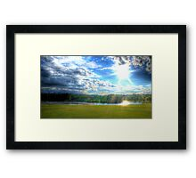 Passing Rainclouds (HDR) Framed Print