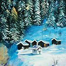 Winter Forest — Buy Now Link - www.etsy.com/listing/217637416 by Leonid  Afremov