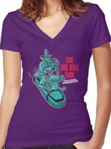 The Big Kill Gun Women's Fitted V-Neck T-Shirt