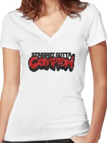 Straight Outta Compton Women's Fitted V-Neck T-Shirt