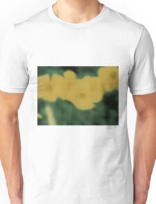 Flowers in Yellow and Green Unisex T-Shirt